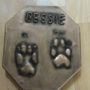 Paw Print Raised Impression